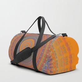 Bright Orange Blue Mandala Duffle Bag