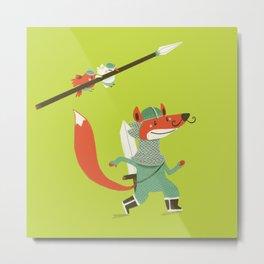 Fox knight Metal Print