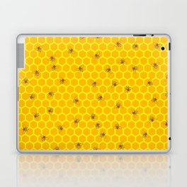 Mind Your Own Beeswax / Bright honeycomb and bee pattern Laptop & iPad Skin