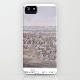 PRINCETON College map NEW JERSEY dorm decor graduate iPhone Case