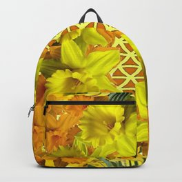 GOLDEN YELLOW SPRING DAFFODILS PATTERN GARDEN Backpack