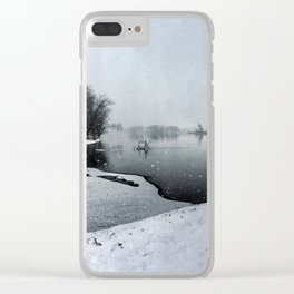 Panoramic Rock River - Illinois Clear iPhone Case
