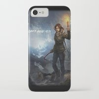 tomb raider iPhone & iPod Cases featuring Rise of the Tomb Raider - v01 by trixdraws