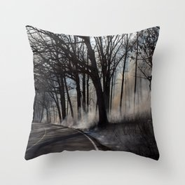 Fire Side Throw Pillow