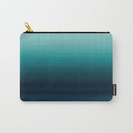 Teal to Indigo Ombre Design Carry-All Pouch