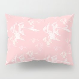 White on Pink Pillow Sham