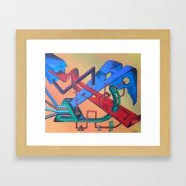 Toxic Paradise Framed Art Print