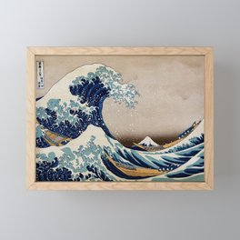 Under the Great Wave by Hokusai Framed Mini Art Print
