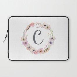 Floral Wreath - C Laptop Sleeve