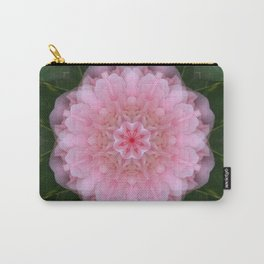 Pink Carnation Mandala Abstract Carry-All Pouch