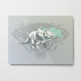 Fearless Creature: Frill Metal Print