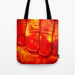 Dedos Rojos Tote Bag