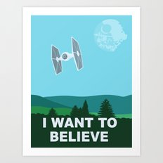 I WANT TO BELIEVE - Star Wars Art Print