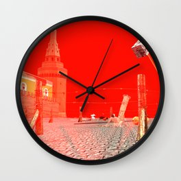 SquaRed: Damocles Hammer Wall Clock