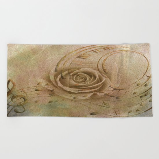Timeless Love Abstract Beach Towel
