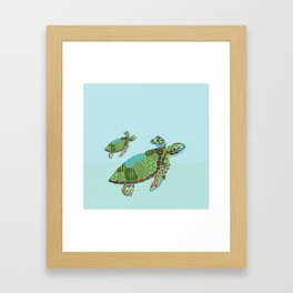 S is for Sea Turtle Framed Art Print