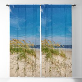 Biloxi Beach with Sea Oats Blackout Curtain