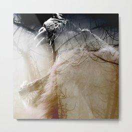 Lion Double exposure Metal Print