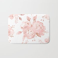 Roses Rose Gold Glitter Pink by Nature Magick Bath Mat