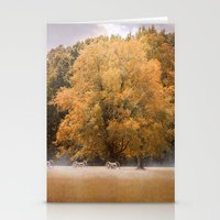 battlefield Stationery Cards featuring Morning on the Battlefield by Jai Johnson