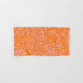 Orange Saffron - Abstract Botanical Nature Hand & Bath Towel
