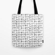 White magic print Tote Bag