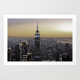 NYC City Scape - New York Photography Art Print