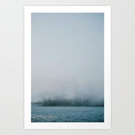 Misty Island Morning Art Print