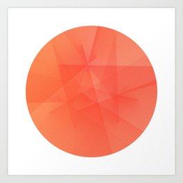 Peach Circle Art Print