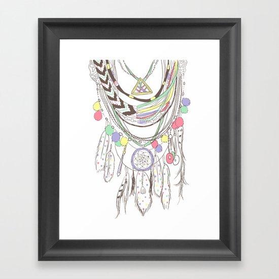 Tribal Necklace Framed Art Print
