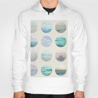 polka dot Hoodies featuring Ocean Polka dot  by Pure Nature Photos