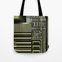 industrial Tote Bags featuring Industrial by inkedsandra