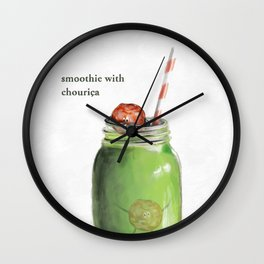 La Cuisine Fusion - Smoothie with Chouriça Wall Clock