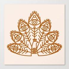 Cosmic Peacock Canvas Print