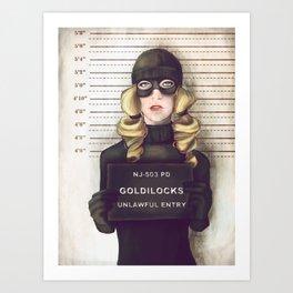 Goldilocks Art Print