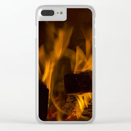 Fireside Warmth Clear iPhone Case
