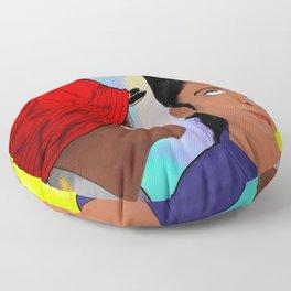 A Different World- Mr. Wayne and Ms. Gilbert Floor Pillow