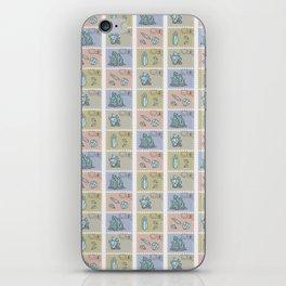 Minerology Quartz Crystal Postage Stamps iPhone Skin