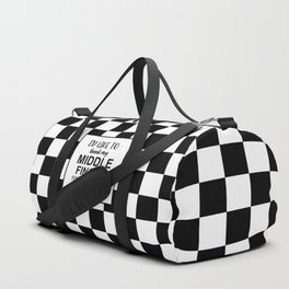 Middle Finger Quote Duffle Bag