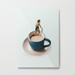 Swimming in coffee Metal Print