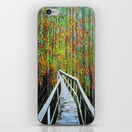 Walkway  in the woods  iPhone Skin