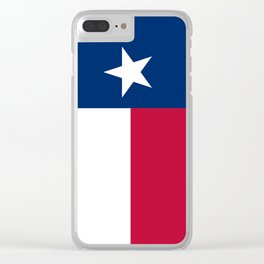 State flag of Texas, banner version Clear iPhone Case