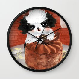 Japanese Chin Waiter Wall Clock