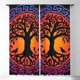 Viking Yggdrasil World Tree Blackout Curtain