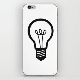 Simple Light Bulb iPhone Skin