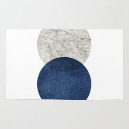 Marble blue navy abstract minimalist scandinavian Rug