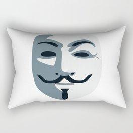 Anonymous Mask #society6 #decor #buyart #artprint Rectangular Pillow