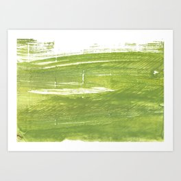 Moss green abstract watercolor Art Print
