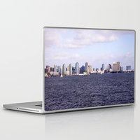 san diego Laptop & iPad Skins featuring Good Morning San Diego  by Ashley Marcy