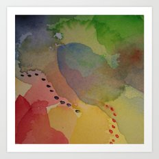 Watercolor Abstract Mini Series #2 Art Print